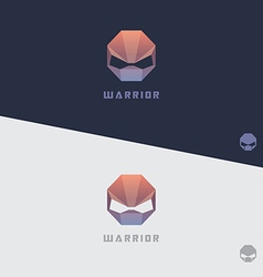 Alien warrior low polygonal design vector