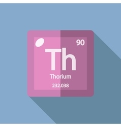 Chemical element thorium flat vector