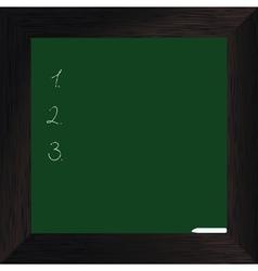 wood bord green dark vector image