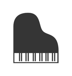 Music instrument in black and white icon vector