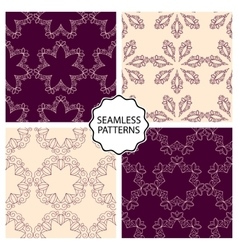 a set seamless patterns vector image vector image