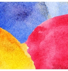 Abstract colorful watercolor background vector image