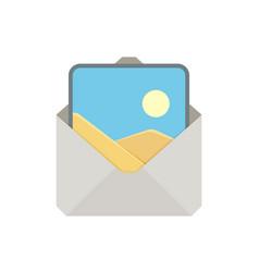 Attache image mail photo picture send icon vector