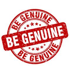 Be genuine red grunge stamp vector
