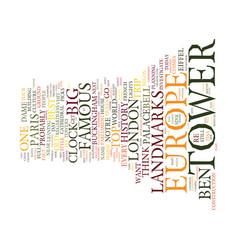 Best landmarks in europe text background word vector