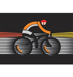 Bicycle safety in the dark vector
