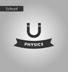 Black and white style icon physics lesson vector