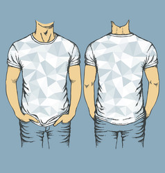 Blue t-shirts templates vector