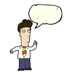 Cartoon bored man asking question with speech vector