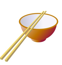 Ceramic mug with wooden sticks vector image