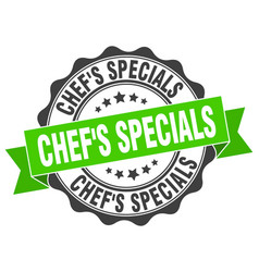 chefs specials stamp sign seal vector image vector image