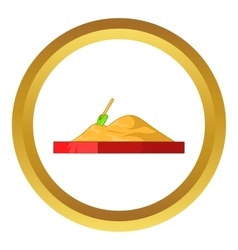 Children sandpit icon vector