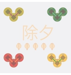China traditional coins vector