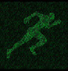 concept of data transfer speed runner silhouette vector image