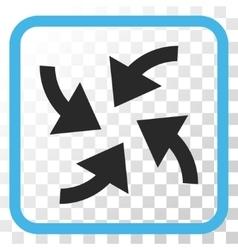 Cyclone arrows icon in a frame vector