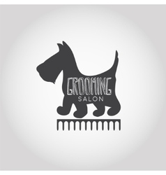 Dog beauty and grooming salon logo vector
