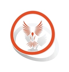 Freedom sign sticker orange vector