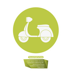 Motorcycle delivery service transport pictogram vector