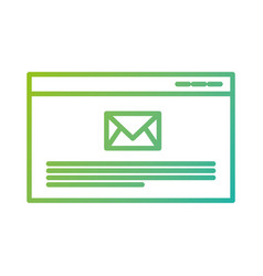 Page website email message receiving vector