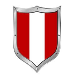 Peru flag button vector image
