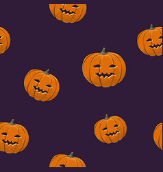 Seamless pattern of carved halloween pumpkin vector
