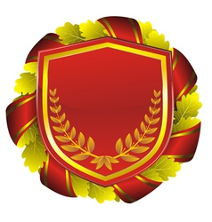 shield red vector image vector image