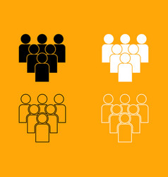 working together team concept set icon vector image