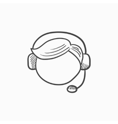 Customer service sketch icon vector image