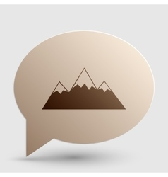 Mountain sign  brown gradient icon on vector