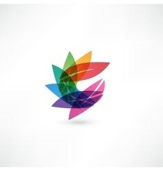 leaf design sign vector image