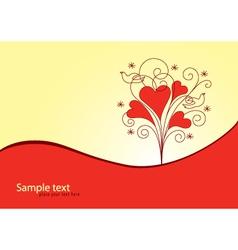Love Valentine background vector image