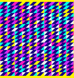 Abstract geometric pattern neon colors vector