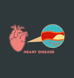 Heart disease logo icon symbol vector
