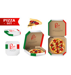 Pizza for sale realistic set vector