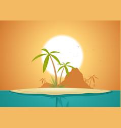 Idyllic island poster vector
