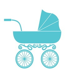 Pram - baby carriage vector