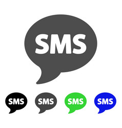 Sms flat icon vector
