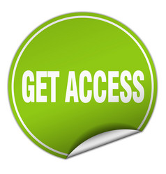 Get access round green sticker isolated on white vector