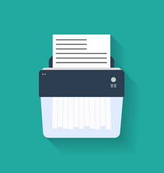 Icon of paper Shredder Flat style vector image