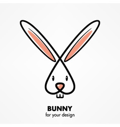 Bunny head vector