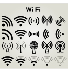 Wi fi icons set vector