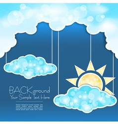 blue clouds and sun mobile vector image
