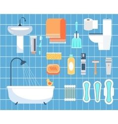 Personal hygiene flat icons set vector