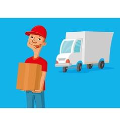 Delivery service man vector