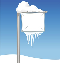 Sign snowy vector