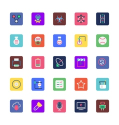 Science and Technology Colored Icons 4 vector image