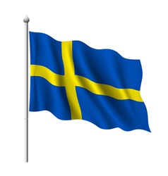 Flag of sweden vector