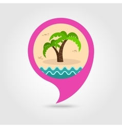 Palm tree pin map icon summer vacation vector