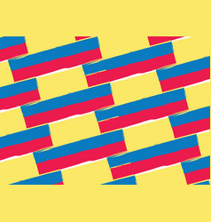 abstract ecuadorian flag or banner vector image vector image
