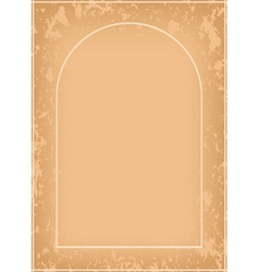 Arch frame with grunge pattern vector